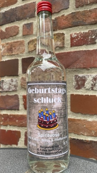 Geburtstagschluck 54%Vol.