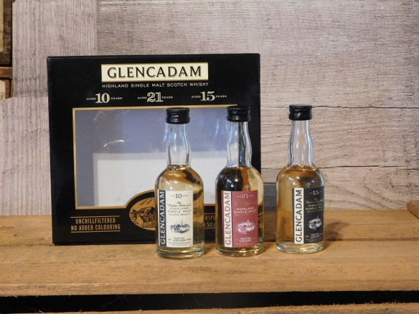 Glencadam Whisky Set 3x0,05L