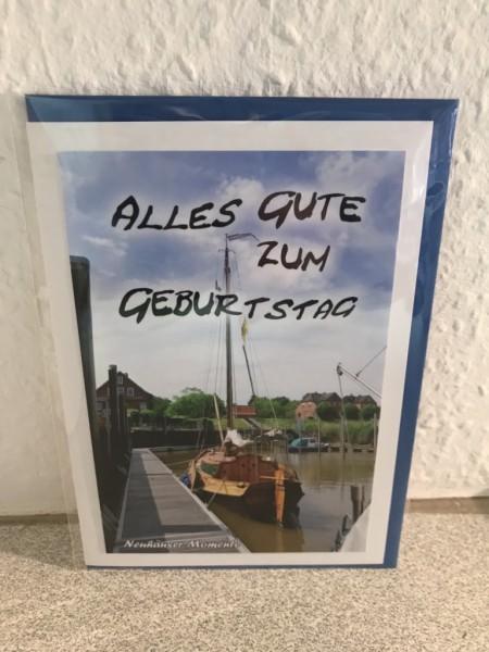 Glückwunschkarte Neuhäuser Hafen