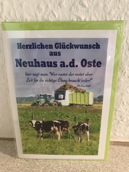 Glückwunschkarte Geburtstag Grüsse aus Neuhaus